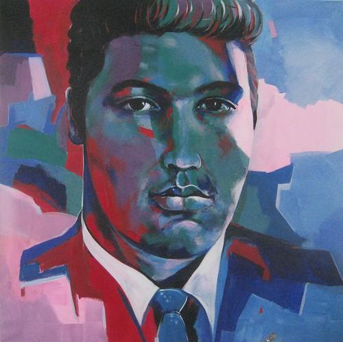 Elvis Presley - Painting - Modern Expressionism