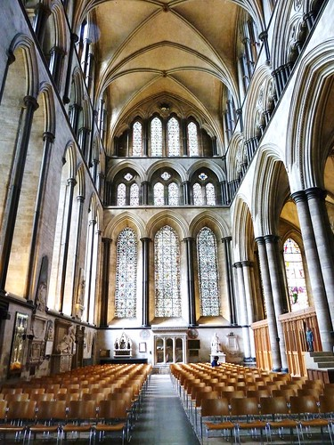Inside Salisbury Cathedral, Wiltshire