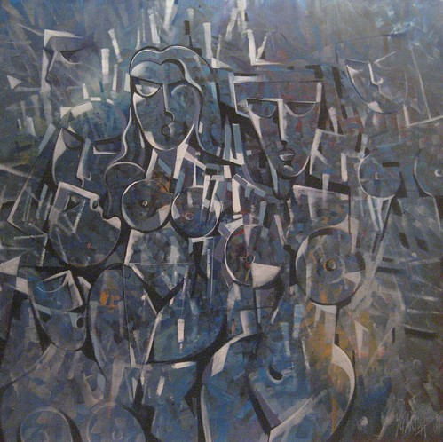 The Wedding - Painting - Cubism