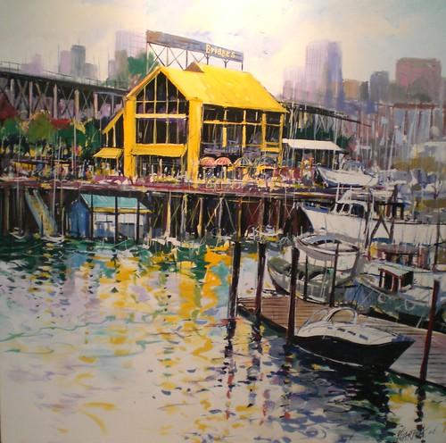 Bridges, Granville Island - Painting - Impressionism