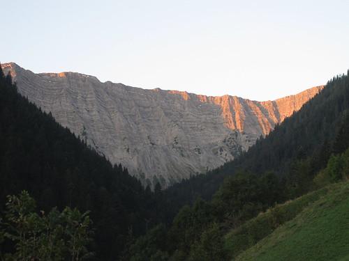 Gartner Wand im Morgenlicht