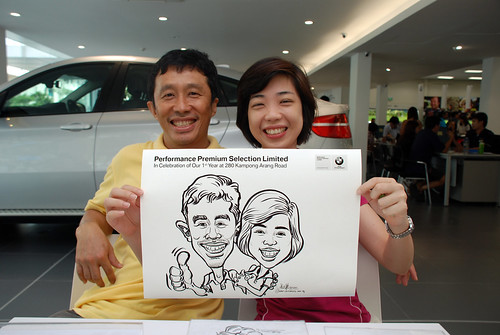 Caricature live sketching for Performance Premium Selection first year anniversary - day 3 - 27