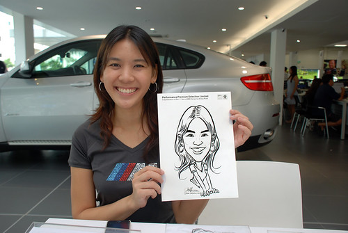 Caricature live sketching for Performance Premium Selection first year anniversary - day 3 - 29