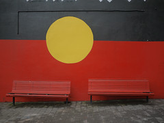 Aboriginal flag art