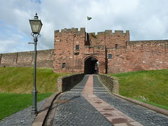 Carlisle Castle Cumbria (woodytyke) Tags: carlisle castle cumbria red sandstone scottish borders raiders flag royal fortress stone town lake district green england british britain english woodytyke uk lakes lakeland visitor tourism north west touring great united kingdom cumberland photo photography county isles wall defence border raids moat grass hall scotland portcullis gate gateway gatehouse lamp post barracks headquarters heritage hq regimental museum siege stephen woodcock photograph camera foto best picture composition digital phone colour