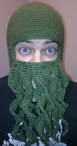 Crochet Cthulhu Beard Hat Chance Of Raine