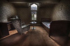 staff quarters  :: (andre govia.) Tags: brown abandoned table carpet hotel photo bed bedroom chair closed view photos decay room ghost motel andre haunted spooky explore staff alpine ghosts derelict shining quarters tyrol ue tablr govia