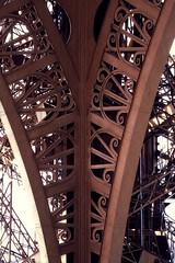 Eiffel Tower - patterns - 2 (woto) Tags: paris france tower europe torre tour eiffeltower toureiffel francia theironlady ladamedefer