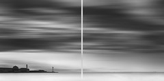 * radiation * (^soulfly) Tags: longexposure bw monochrome japan tokyo diptych 21 powerplant canongear strongwind archieve bwnd110 swiftmovementinthesky