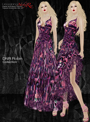 DNR Robin V Poster Pink (designingnickyree) Tags: clothing dresses gowns apparel nickyree slfashion resortfashion dnrrobincollection