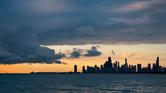Unobstructed View (pixelmama) Tags: chicago storm skyline clouds sunrise illinois lakemichigan montroseharbor deathcabforcutie  unobstructedviews