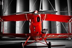 Paint it red! (gibsi (driempixel photos)) Tags: red plane airport aircraft hamburg propeller doubledecker doppeldecker bcker jungmann classicplane flickraward b131 flickraward5 oneofakindimages