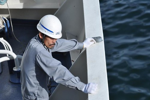 Portrait of a Deckhand, m/v Hamayuu, Arriving in Busan, South Korea (DHK/DHJ/DH10)