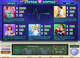 free Sneak A Peek Doctor Doctor slot mini symbol