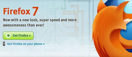 Firefox 7 final ออกมาอีกแล้ว