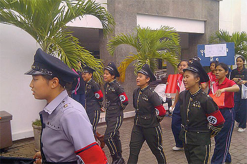Thai School Kids Nazi Outfits