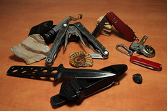 Knife set (Ilia.K) Tags: travel leatherman work army kick swiss rally knife gear diving pocket survival tool sportsman solitaire victorinox maglight tekna
