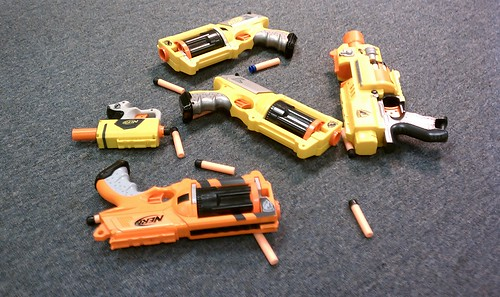 Nerf guns at work