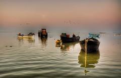 Manyas Lake, Turkey (Nejdet Duzen) Tags: trip travel cloud lake reflection turkey boat türkiye sandal bulut göl yansıma turkei seyahat bandırma manyaslake mygearandme ringexcellence manyasgölü
