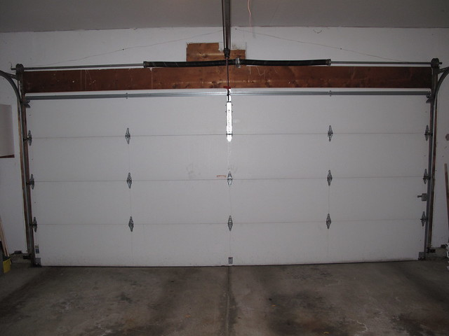 Overall view of garage door