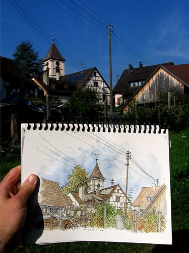 sketching in Wollbach, DE