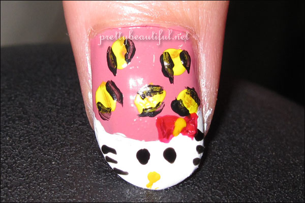 Hello Kitty Nail in French Tip Art Tutorial