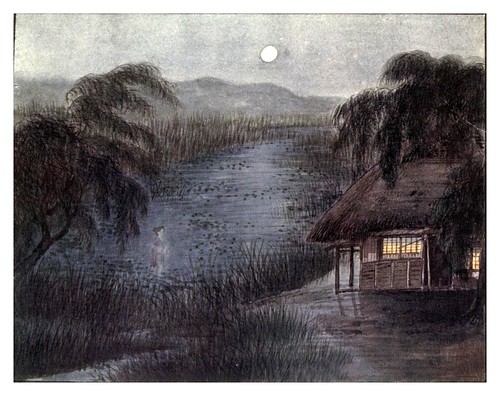 014-El secreto del estanque Iidamachi-Ancient tales and folklore of Japan-1908-Mo-No-Yuki