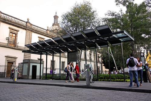 Primera estación de taxis eléctricos, Ciudad de México