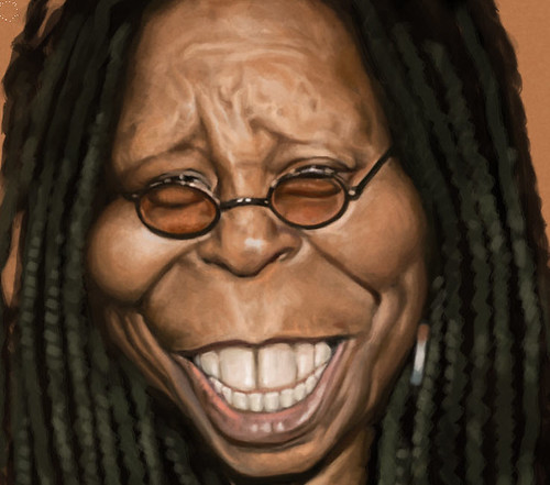 digital caricature of Whoopi Goldberg - 3