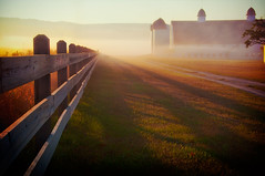 Happy Fence Friday {Shadow of the Day} Edition! (pixelmama) Tags: mist fog sunrise fence shadows farm sleepingbeardunes gettyimages glenarbor endofsummer hff beginningofautumn chasinglight lakemichigancircletour shadowoftheday fencefriday