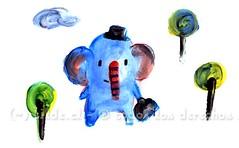 Elefante (~ tilde ~) Tags: illustration fingerpaint ilustracin pinturaparadedos