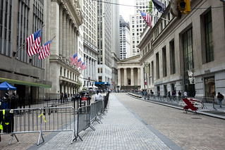 Wall Street in lockdown