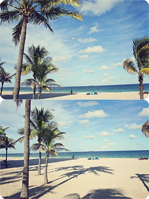 Fort Lauderdale beach diptych 3