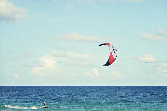 Fort Lauderdale beach kitesurfer 4