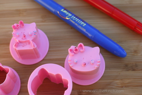 Hello Kitty veggie cutters
