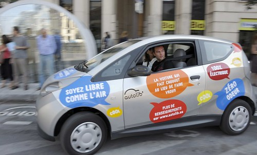 Autolib electric car sharing vehicle, Paris