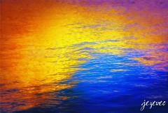 2011-09-26 [367] Van Gogh and the lake (Badger 23 / jezevec) Tags: water agua    acqua  wasser leau abstract color colour blue red yellow eaglecreekpark art umn kunst   arte  mksla    sztuka art  taide konst ars nghthut sanat    arti   mine me photo photomanipulated software jezevec graphics graphicdesign draw badger23