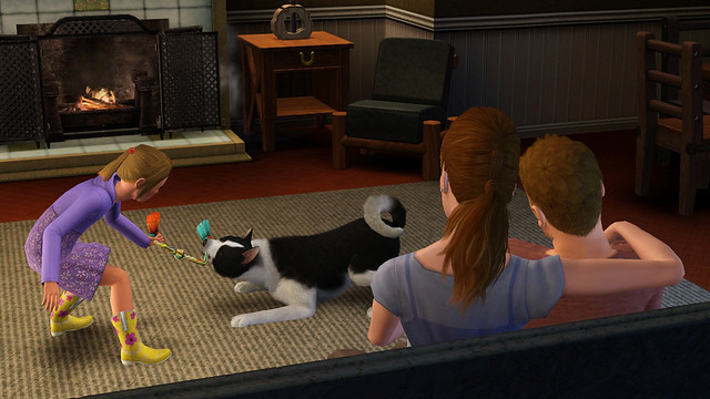 The Sims 3 Pets Toddler Playing Tug with Dog