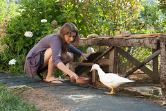 Sam and duck (Kalikalos - Retreat centre on the Mount Pelion) Tags: yoga greece retreat meditation pelion workshops osho rawfood holistic vipassana selfdevelopment helenford fkit kalikalos olistico jockmillenson