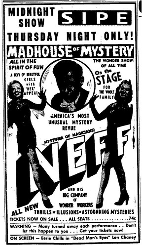Bill Neff's Madhouse of Mystery 1950 Indiana