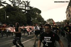 Roma, 7 ottobre 2011 IV (farnitano.amos) Tags: street city people italy man rome roma nikon europa europe strada italia colore gente protest protesta uomo citt ragazzo studenti manifestazione 7ottobre2011