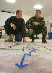 OPFOR and Bulgarian SOF reviewing plan2 (U.S. Army Europe Images) Tags: poland multinational usarmyeurope opfor bumgardner opposingforces 173rdairbornebrigadecombatteam fste pandov fullspectrumtrainingevent militarymilkie