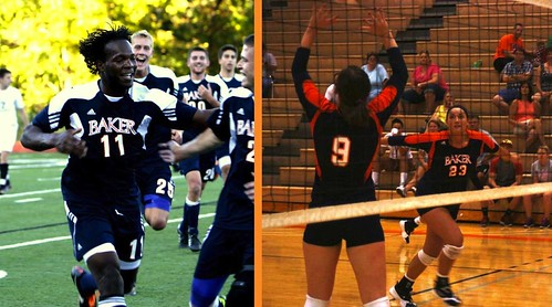 Volleyball and Soccer Action