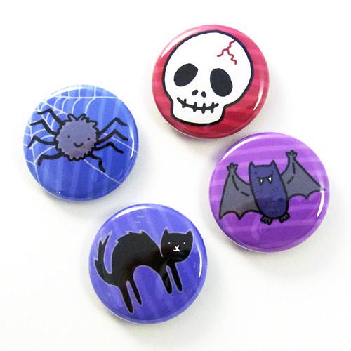 Spooky Halloween Button Set