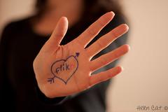 Love flikr (~Helen Cat) Tags: selfportrait love writing self october flickr dof hand bokeh fingers full sp thumb challenge selfie odc day281 hcs herewegoagain 365project 281365 081011 happyclichsaturday 2011inphotos