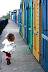 Mundesley beach huts (Green Iris Photography) Tags: colour beach dance seaside run beachhuts