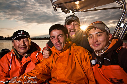 Fishermen ... and friends! Small group portrait shot in Green Harbour, Massachussets by Nicola Zingarelli
