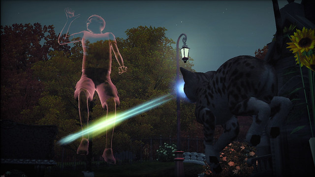The Sims 3 Pets Laser Eye Cat and Ghost