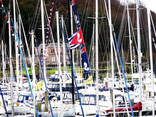 Colourful Masts at Scotland's Boat Show