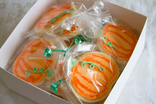 Decorated Pumpkin Cookies - 4